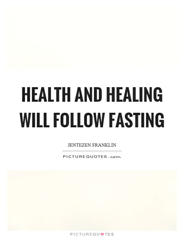Fasting should only be done intuitively not impulsively